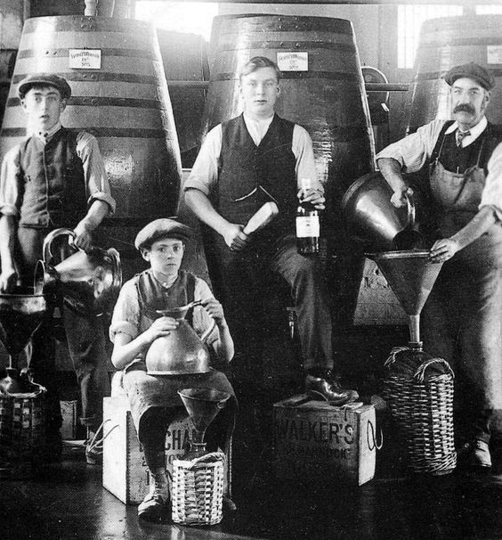 Young lads at work at Cardhu Distillery in ages gone by