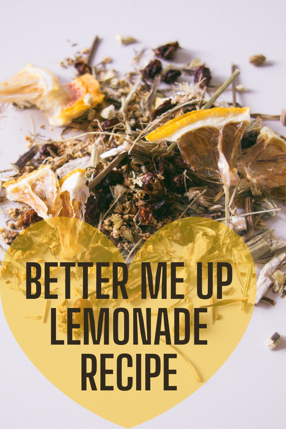 the photo shoes idyleaf immuity loose leaf tea and the text better me up lemonade recipe