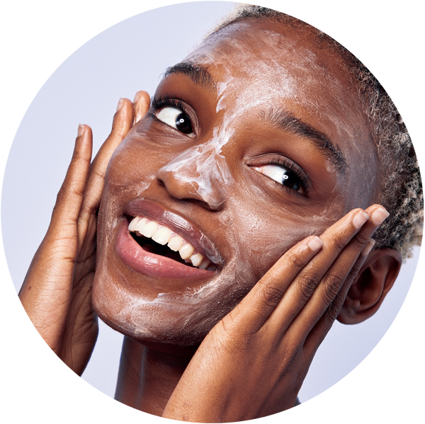 Woman applying Amie's soft and smooth cleansing balm