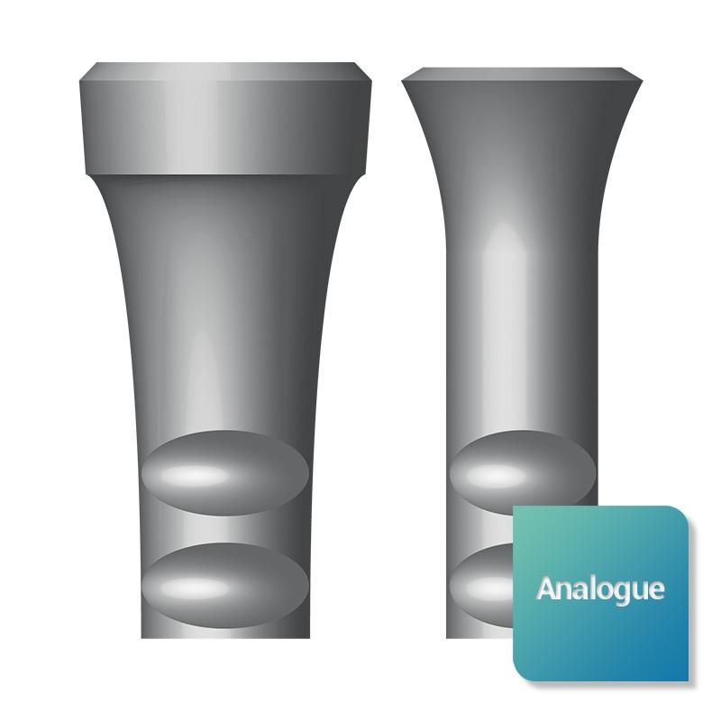 Analogue compatible Soft Tissue Level™ - Safe Implant