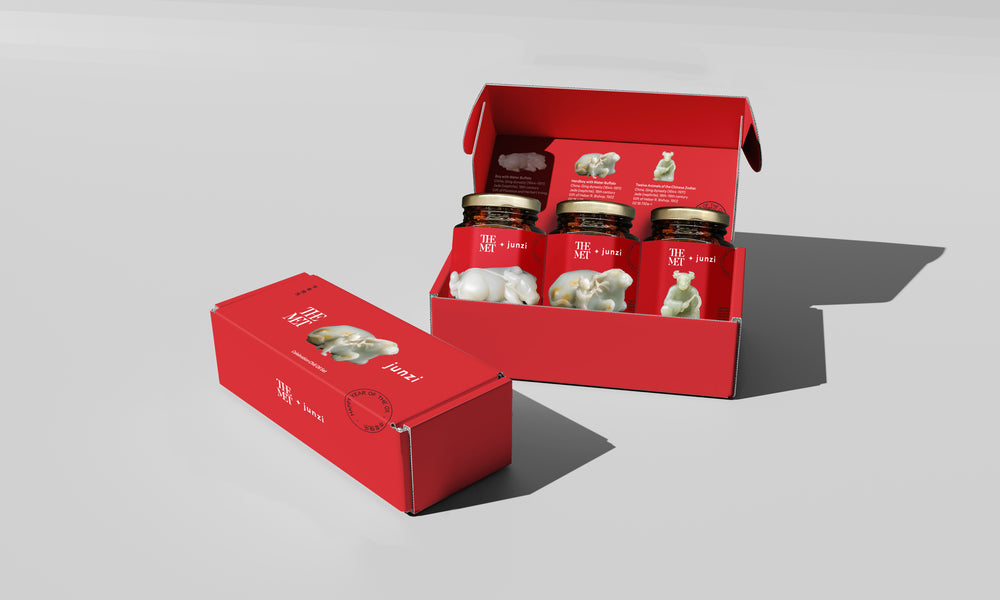The Met x junzi Celebration Chili Oil - 3-jar gift set