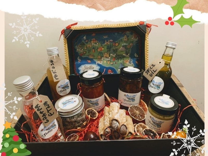 Sicilian Hamper Basket signed by Sicilian NQ