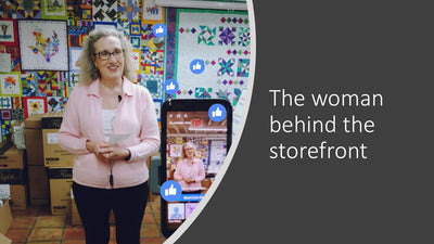 The woman behind the storefront