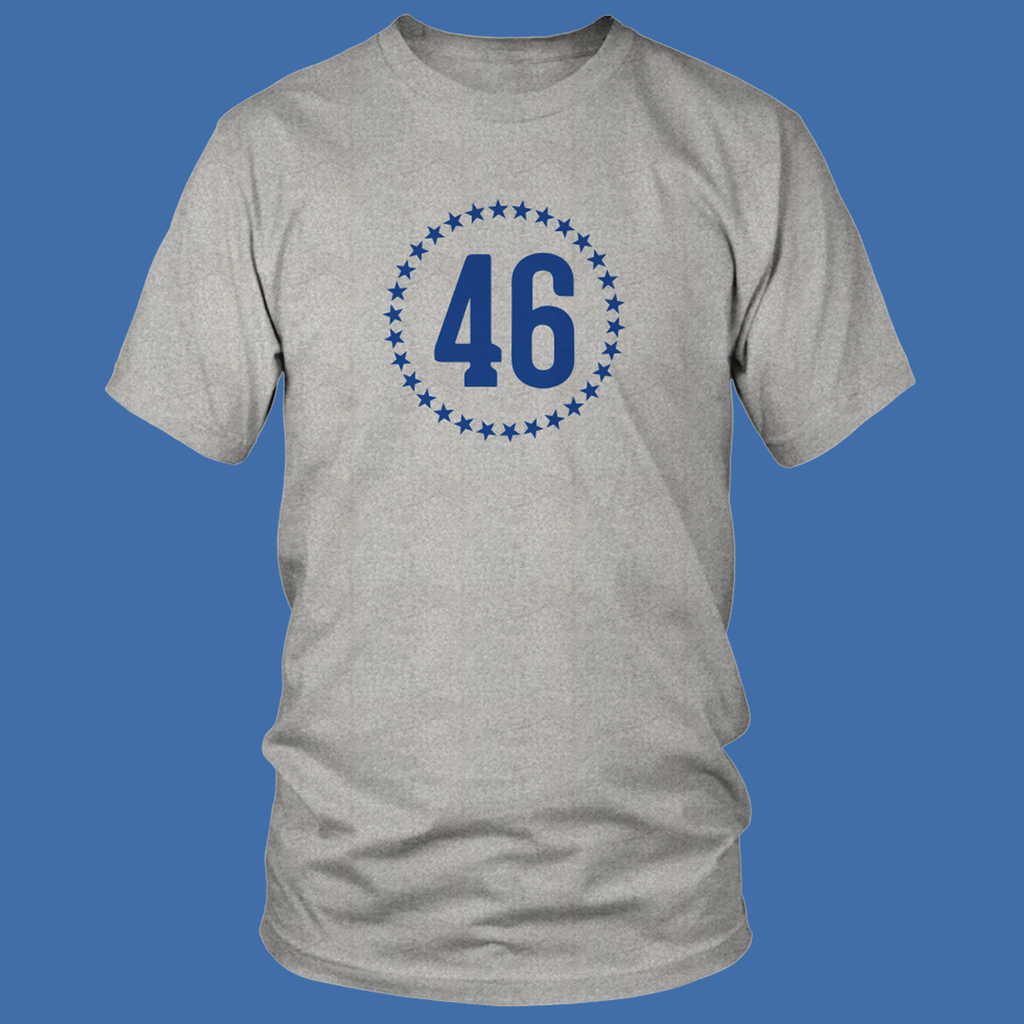 """46"" Heather Gray T-shirt"