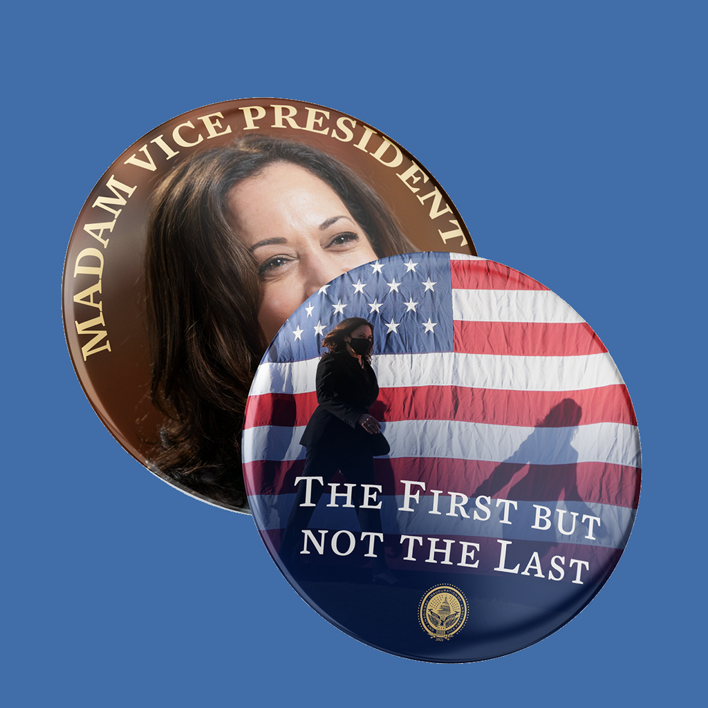 Madam Vice President Buttons 2-Pack