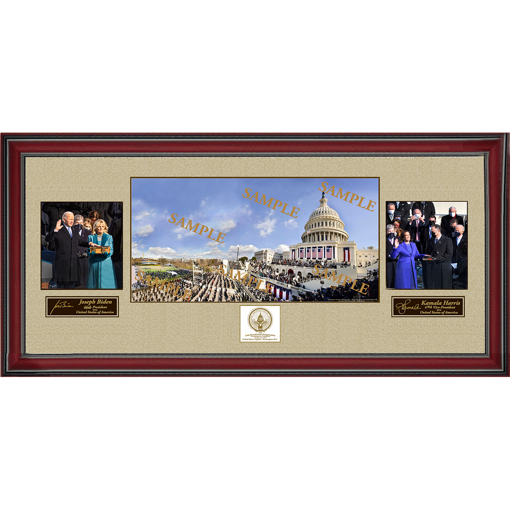 Framed Panoramic Multi-Photo Display