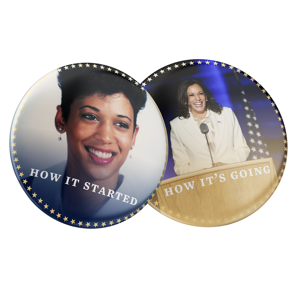 Kamala Then and Now Buttons 2-Pack