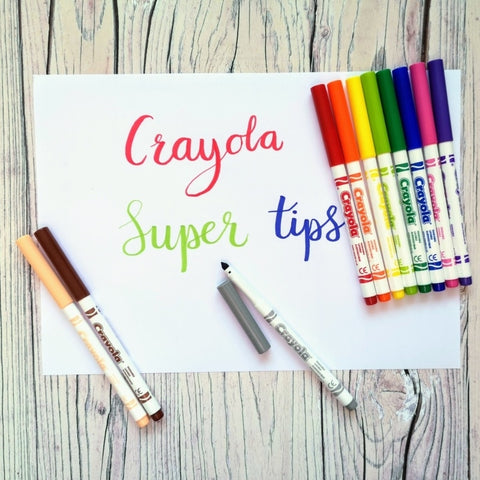 Crayola - Washable Markers - Super Tips - 12 colours
