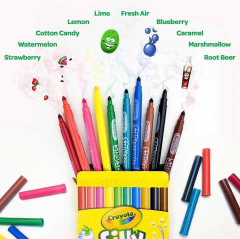 Crayola-  Silly Scents Markers- 10 colours