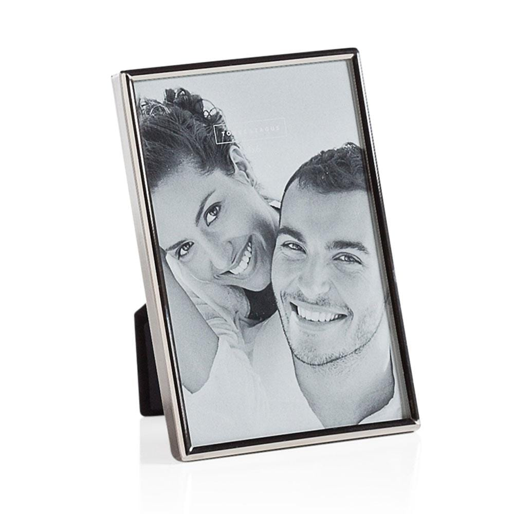 "Lino Silver Trim 4 x 6"" Photo Frame"