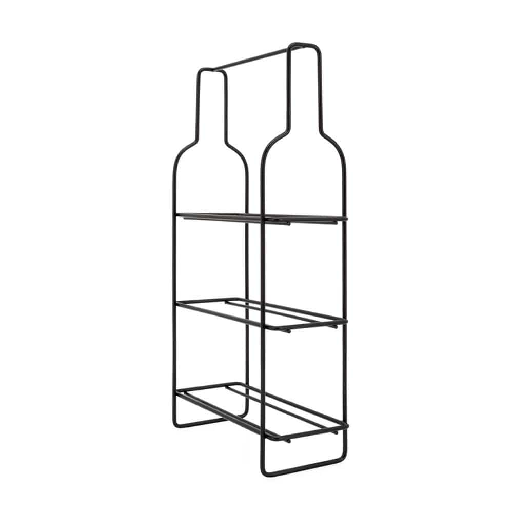 Outline 3 Bottle Metal Wine Rack