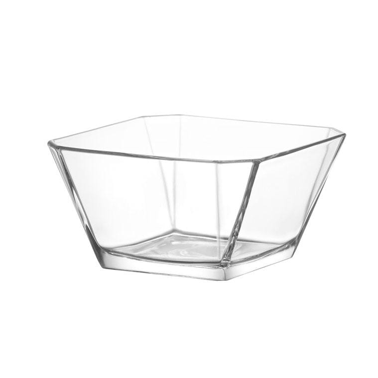 Square Glass Bowl Set, 6 Pack