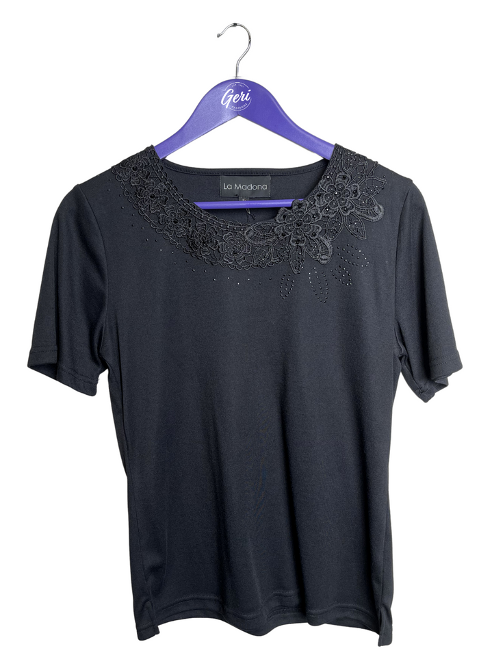 Sparkle & Lace Detail Tee