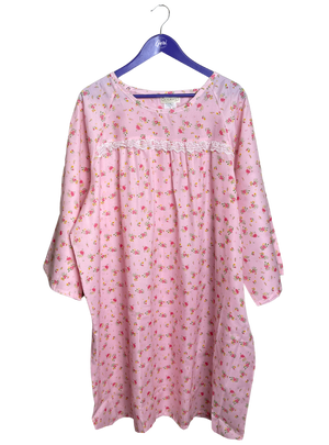 Poly-Cotton with Lace Night Gown