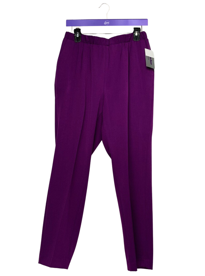 Pull-On City Stretch Straight Leg Pants