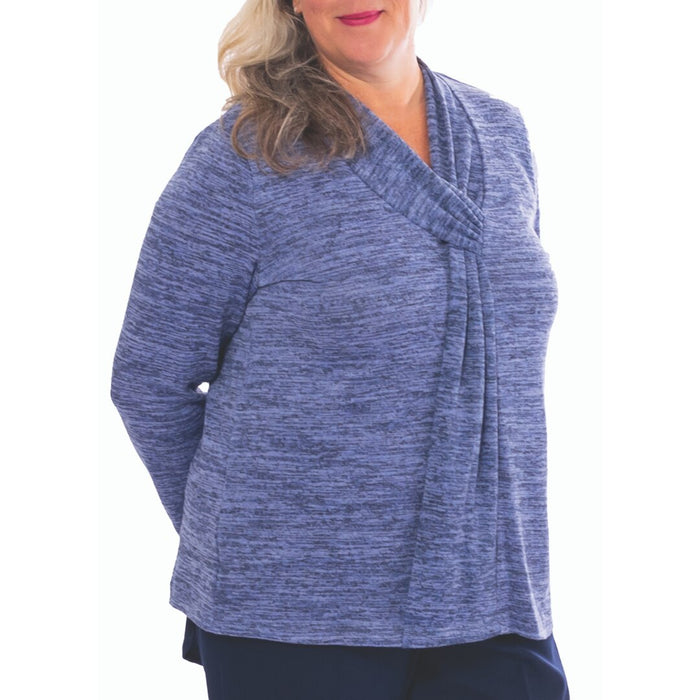 Long Sleeved V-Neck Adapted Top