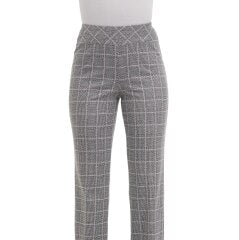 Pull-On Ponte Knit Contour Waist Straight Leg Pant