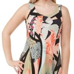 Printed Microfine Jersey Tank Dress