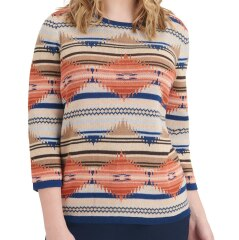 Petite Diamond Cotton-Blend Jacquard Knit Sweater