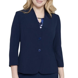 Textured Button-Front Blazer Jacket