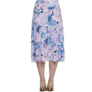 Pull On Floral Print Skirt