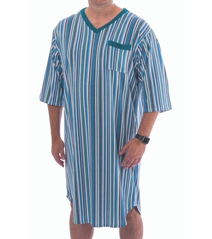 Knit V-Neck Adaptive Nightshirt