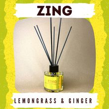 Load image into Gallery viewer, Zing - Lemongrass & Ginger 100g Reed Diffuser