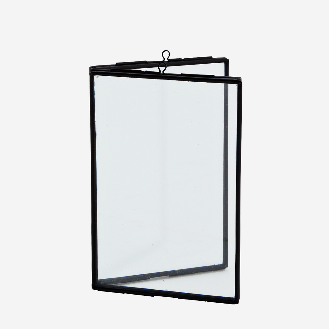 Standing Double Photo Frame, Black