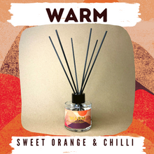 Load image into Gallery viewer, Warm - Sweet Orange & Chilli 100g Reed Diffuser