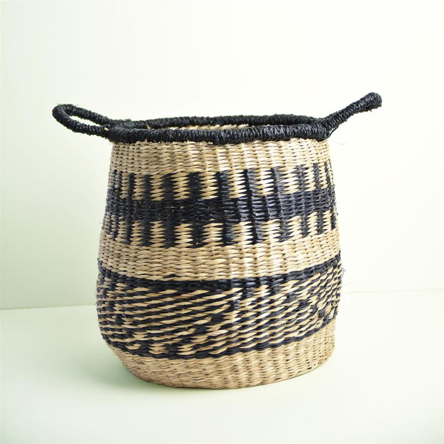 Abayomi Basket - Grey Stripe by Dassie Artisan