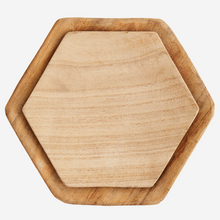 Load image into Gallery viewer, Hexagonal Wooden Plates