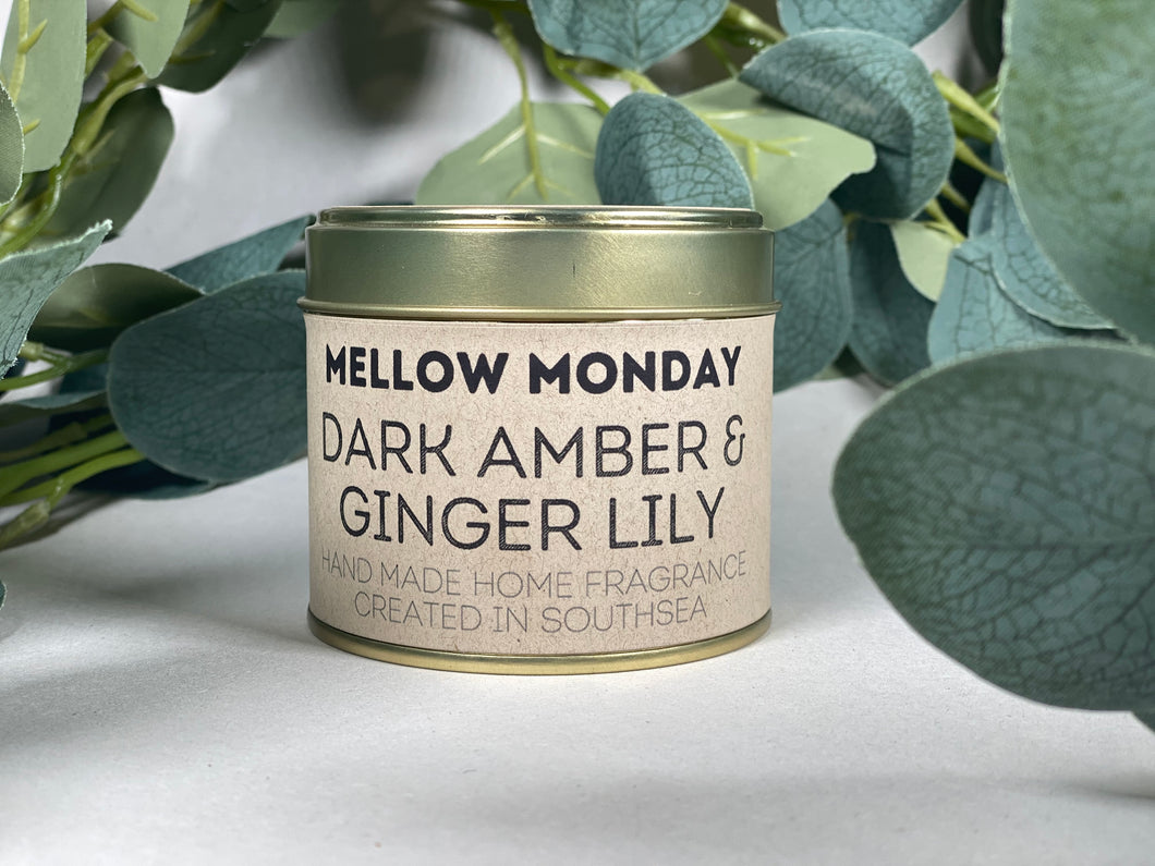 Dark Amber & Ginger Lily 200g Soy Candle