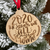 2020 The Year We All Stayed Home Christmas Wooden Ornament