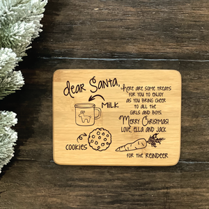 Christmas Letter to Santa Cutting Board