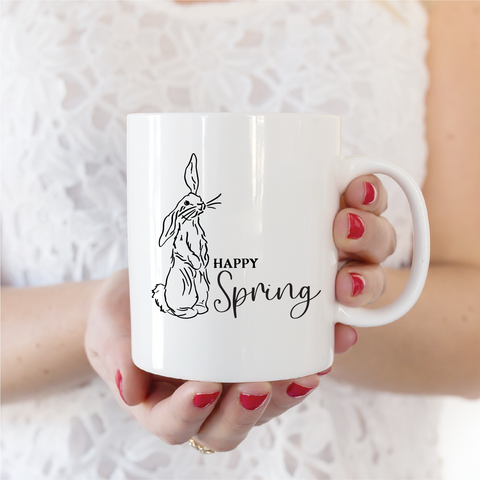 Happy Spring Ceramic Coffee Mug