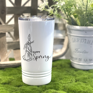Happy Spring Metal Travel Coffee Tumbler
