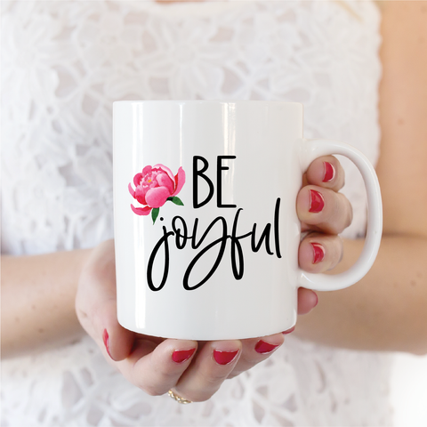 Be Joyful Ceramic Coffee Mug