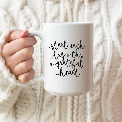 Grateful Heart Ceramic Coffee Mug