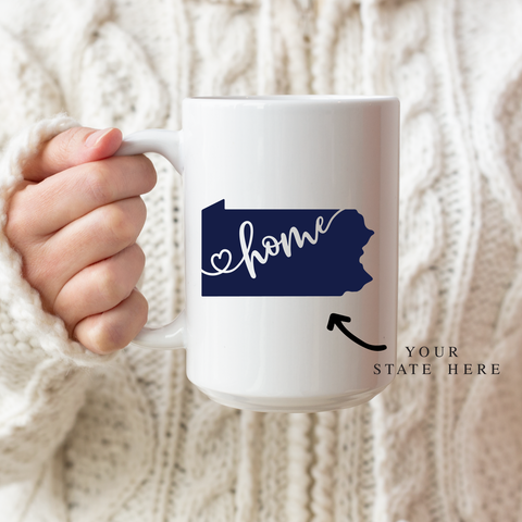 State Love Ceramic Coffee Mug