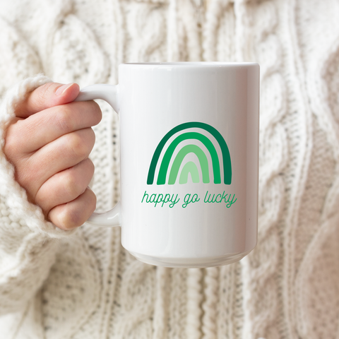 Happy Go Lucky Ceramic Coffee Mug