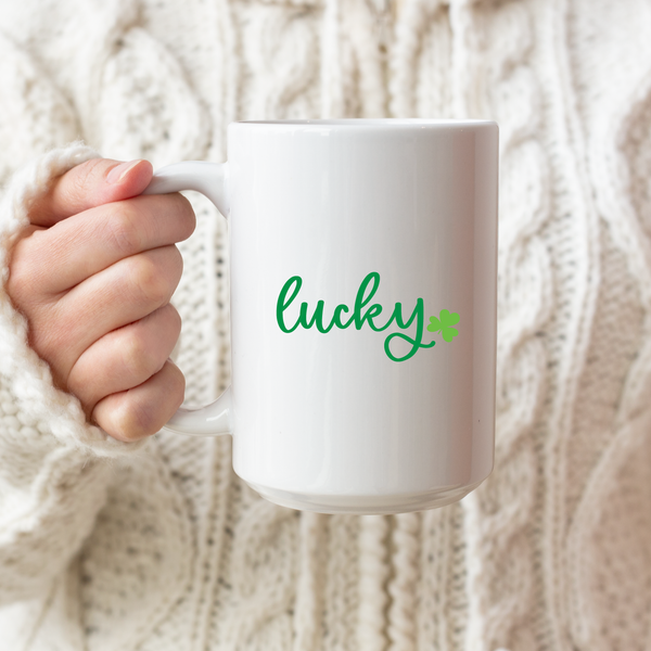 Lucky Shamrock Ceramic Coffee Mug