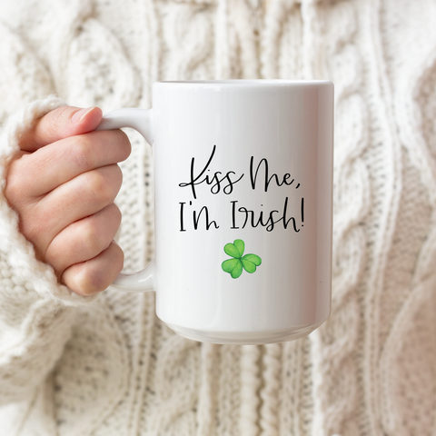 Kiss Me, I'm Irish Ceramic Coffee Mug