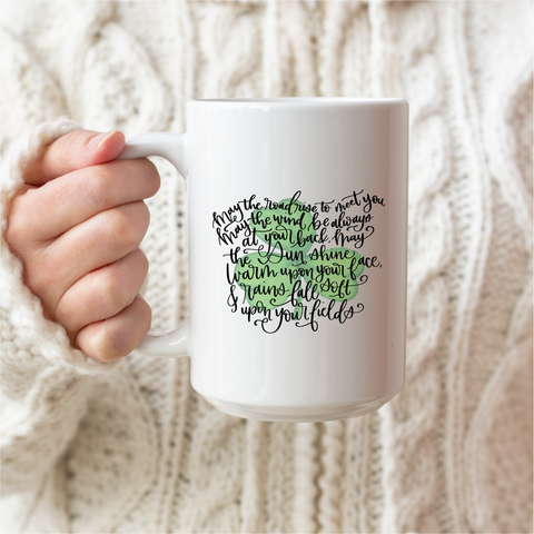 Irish Blessing Ceramic Coffee Mug