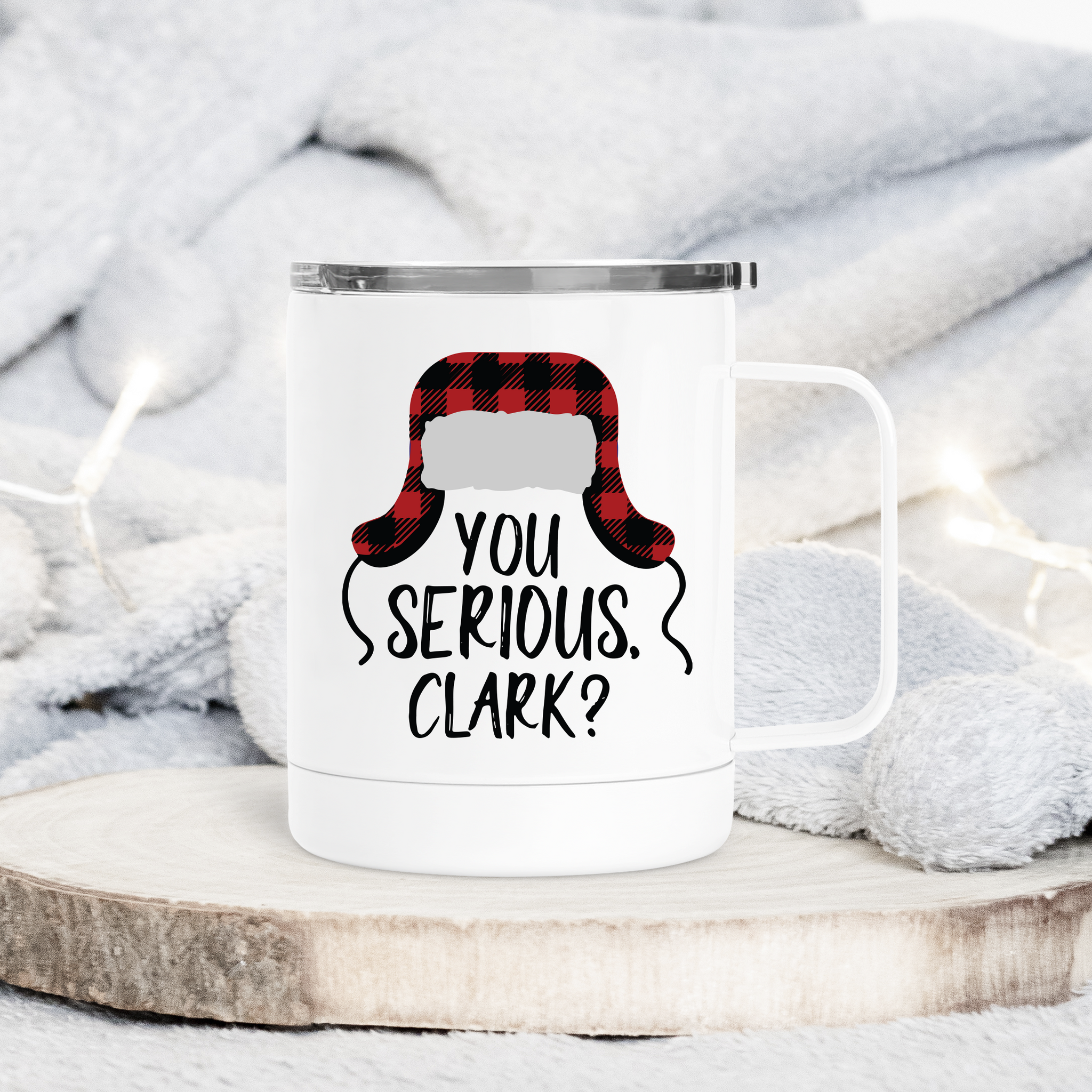 You Serious Clark Christmas Metal Travel Coffee Tumbler