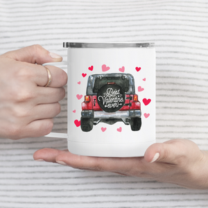Red Love Truck Metal Travel Coffee Tumbler