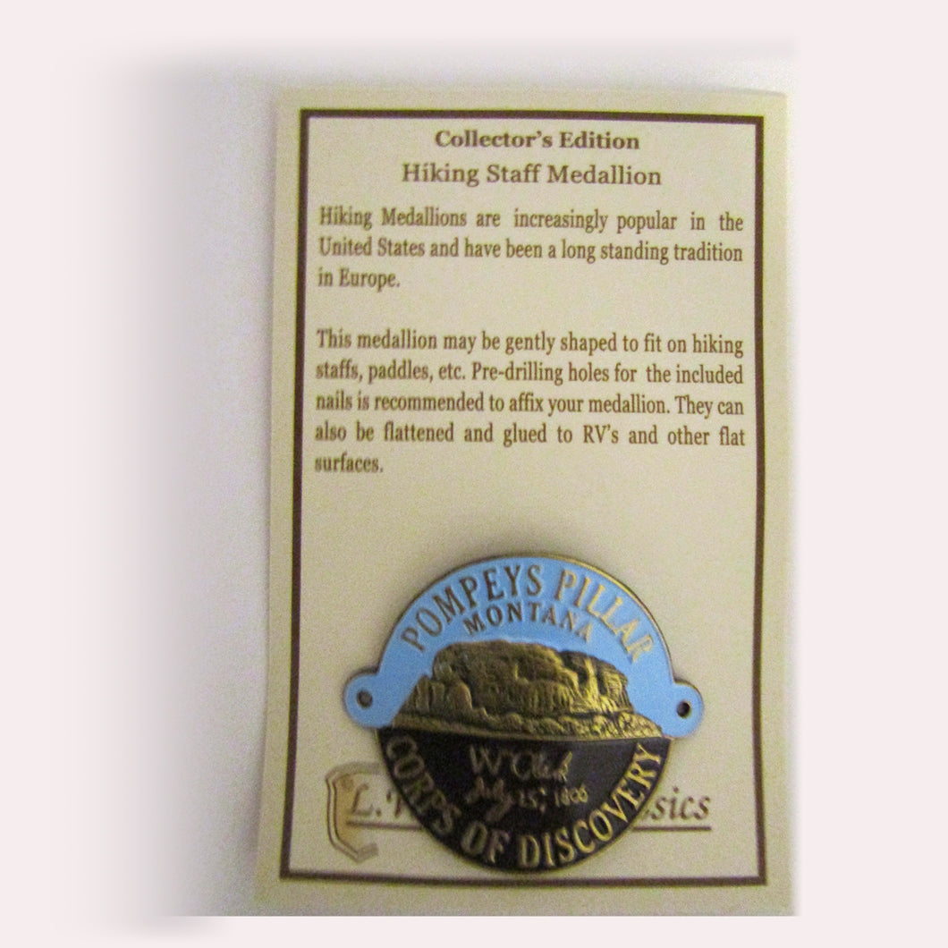 Pompeys Pillar Hiking Staff Medallion