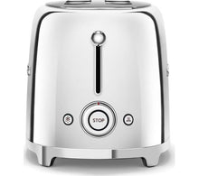 Load image into Gallery viewer, SMEG 50's Retro TSF01SSUK 2-Slice Toaster - Chrome
