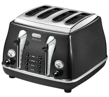Load image into Gallery viewer, DELONGHI Micalite CTOM4003 4-Slice Toaster - Black