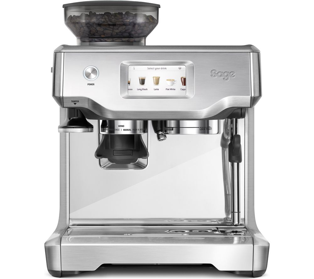 SAGE The Barista Touch Bean to Cup Coffee Machine - Stainless Steel & Chrome