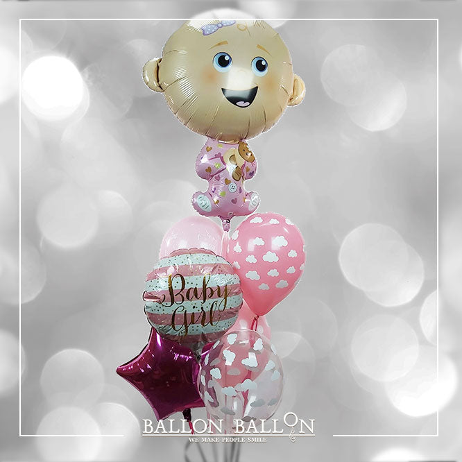 bouquet Ballons-welcome-baby-girl Naissances Fille